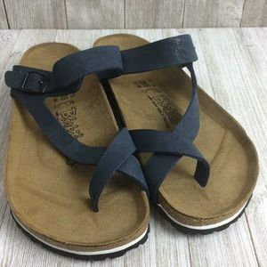 NWOT Birki's by Birkenstock Blue Sandals